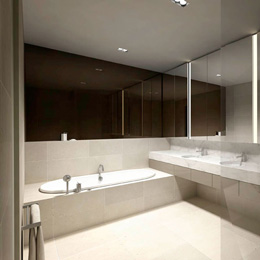 orrong crescent interior design internal view bathroom Amnon Weber Interiors