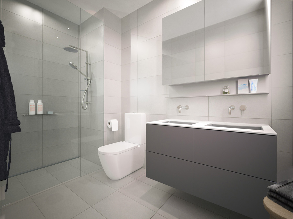 Hotham Street Ripponlea interior design internal view bathroom Amnon Weber Interiors